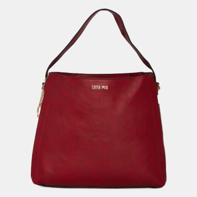 Cara Mia Women Maroon Hobo at flipkart