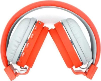 mobaccx SH12 Foldable connection via Bluetooth, Bluetooth Headset with Mic(Orange, Over the Ear)