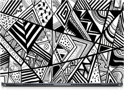 Gallery 83 ® Black & White Abstract Exclusive High Quality Laptop Decal, laptop skin sticker 15.6 inch (15 x 10) Inch G83_skin_0186new Vinyl Laptop Decal 15.6