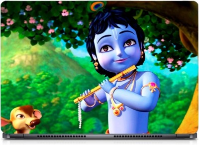 Gallery 83 ® Animated Little Krishna Exclusive High Quality Laptop Decal, laptop skin sticker 15.6 inch (15 x 10) Inch G83_skin_0194new Vinyl Laptop Decal 15.6