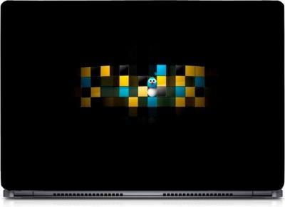 Ganesh Arts Digital Blue Yellow Box Sparkle Laptop Skin with Screen Protector & KeyGuard Skin HD High Quality Eco vinyl Laptop Decal 15.6