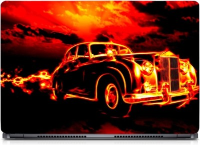 Gallery 83 ® 3D Fire Car Exclusive High Quality Laptop Decal, laptop skin sticker 15.6 inch (15 x 10) Inch G83_skin_0315new Vinyl Laptop Decal 15.6