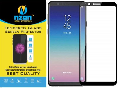 nzon Edge To Edge Tempered Glass for Samsung Galaxy A8 Star 6D Original Full Coverage Curved Scratch Proof Bubble Free 0.3mm Tempered Glass for Galaxy A8 Star Screen Protectors Pack of 2 - Black
