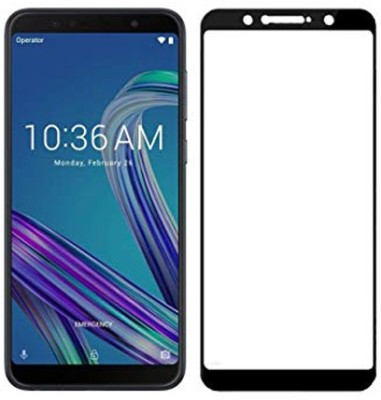 Joice Edge To Edge Tempered Glass for All in 1 Combo Asus Zenfone Max Pro 9H Hardness 0.25Mm Thickness 5D Tempered Glass with Hard Grip Case(Pack of 1)