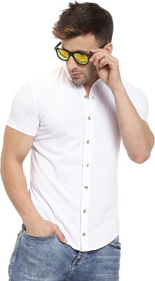 GESPO Men Solid Casual White Shirt