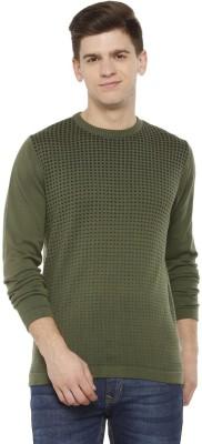 Allen Solly Printed Crew Neck Casual Men Green Sweater