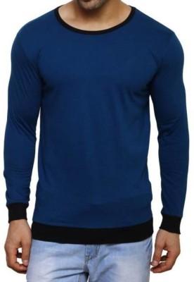 Urban Ranger by Pantaloons Solid Men Round Neck Dark Blue T-Shirt