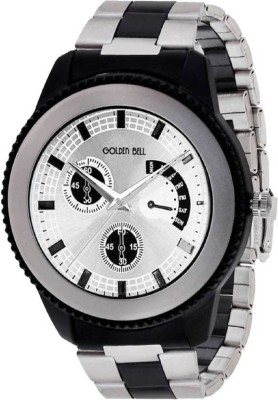 Golden Bell GB-942 New Generation White dial multicolor metal strap analog wrist Watch  - For Men