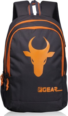 F Gear Castle - Rugged Base Bull 24.0 L Backpack(Grey, Orange)