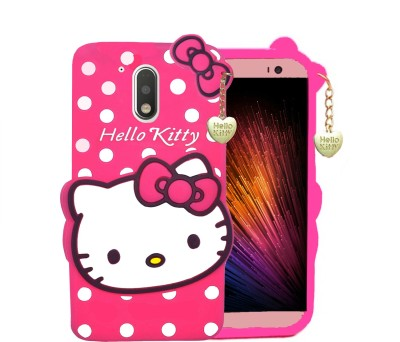 WOOZY Back Cover for Motorola Moto G (4th Generation) Plus(Pink, Dual Protection)
