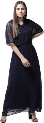 La Zoire Women Maxi Blue Dress