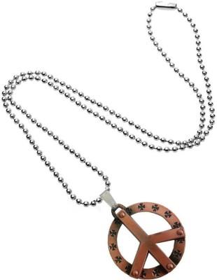 Rich & Famous Hollow Peace Pendant Copper Metal Locket