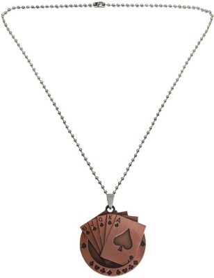 Rich & Famous Playing Card Pendant Metal Pendant