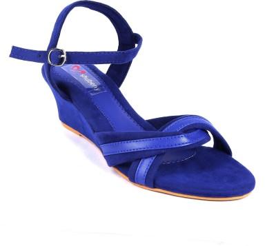 Shuberry Women Blue Wedges Flipkart