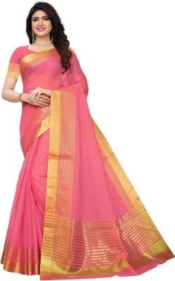 Saara Animal Print, Printed Fashion Art Silk Saree(Dark Green, Pink, Multicolor)