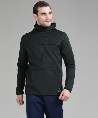 REEBOK Full Sleeve Solid Men Sweatshirt at flipkart