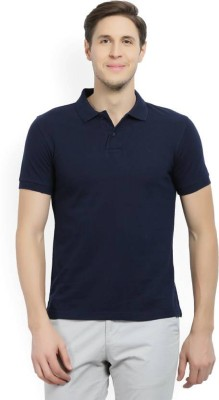 Amitgroup Solid Men Polo Neck Reversible Black T-Shirt