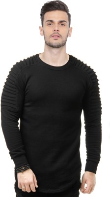 JUST DRESS BETTER Solid Men Round Neck Black T-Shirt