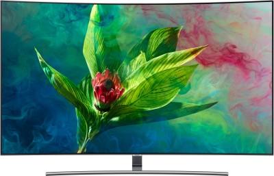 View Samsung Q Series 138cm (55 inch) Ultra HD (4K) Curved QLED Smart TV(QA55Q8CNAKXXL)  Price Online