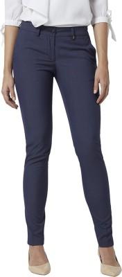 PARK AVENUE Skinny Fit Women Dark Blue Trousers