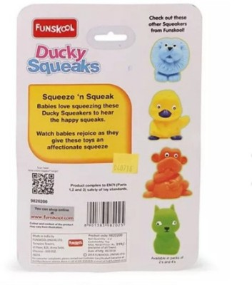 Funskool Ducky Squeaks - Orange And Yellow Bath Toy(Orange, Yellow)