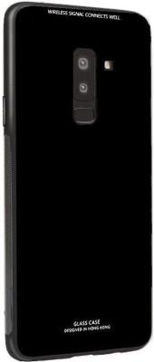 Vodex Back Cover for Samsung Galaxy J8, Samsung J8 (2018)(Black, Grip Case, Glass, Rubber)