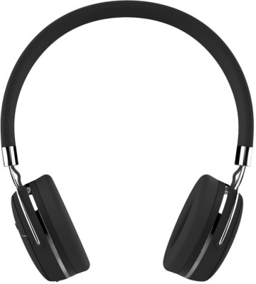Portronics POR-645 Muffs Pro with AUX Port Bluetooth Headset(Black, Wireless over the head)