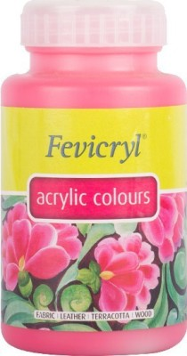 Fevicryl Pidilite Acrylic Colour (500 Ml) Pink(Set of 1, Pink)