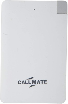 Callmate 2500 mAh Power Bank (PC2500MWH, Power Card)(White, Lithium Polymer) at flipkart
