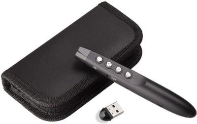 Techtest RF 2.4GHz Wireless Presenter Remote Presentation USB Control PowerPoint PPT Clicker Presenter Hyperlink Laser Pointer Presenter(Black)
