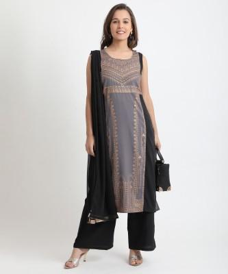 Aurelia Printed Kurta, Trouser/Pant & Dupatta Set