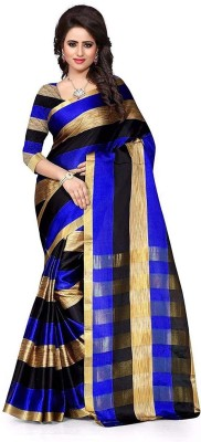 BuyOnn Checkered, Woven Daily Wear Polycotton Saree(Multicolor)