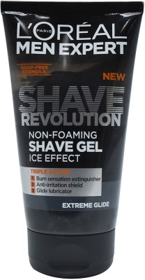L'Oreal Men Expert Shave Revolution Non-Foaming Shave Gel, Ice Effect, Extreme Glide(150 ml)