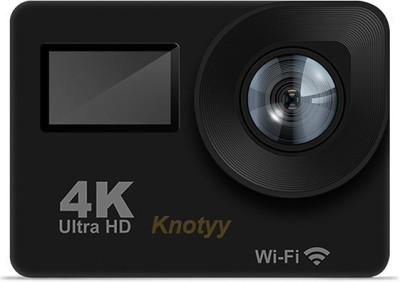 Knotyy Action Camera 4K Sports and Action Camera Black, 16 MP