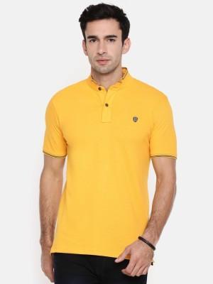 Shaun Color block Men Hooded Yellow T-Shirt
