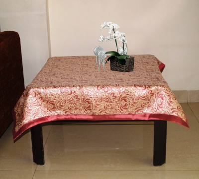 Lushomes Printed 4 Seater Table Cover(Pink, Polyester) at flipkart