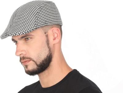 311fb0c92 FabSeasons Checkered Checkered Polyester Golf Flat Cap Cap on ...