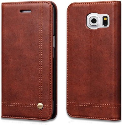Pirum Flip Cover for Samsung Galaxy S7 Edge Brown, Holster