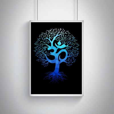 """Cool, Trendy, Quirky Posters """"Om tree design"""" Add some quirkiness to your walls Rolled Posters Frame not Included (12 x 18 IN) Fine Art Print(18 inch X 12 inch, Rolled)"""