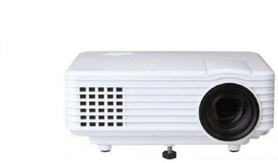 Punnkk P5 800 Lumens 800* 480 Resolution Led With Hdmi / Av/tv/ Vga /Usb Home Cinema Portable Projector(White)