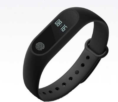 FANOSONS M2 Heart Rate & BP Monitor Smartband(Black Strap, Size : Free Size)