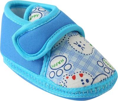 Chiu Soft Sole shoes Booties(Toe to Heel Length - 10 cm, Blue)