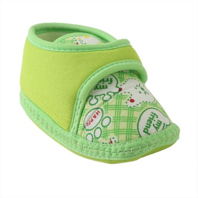 Chiu Soft Sole shoes Booties(Toe to Heel Length - 10 cm, Green)