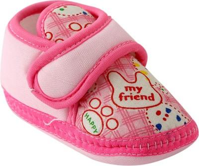 Chiu Soft Sole shoes Booties(Toe to Heel Length - 10 cm, Pink)