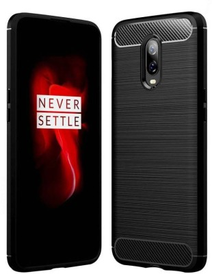 Casewilla Back Cover for OnePlus 6t, Flexible Case(Black, Grip Case)