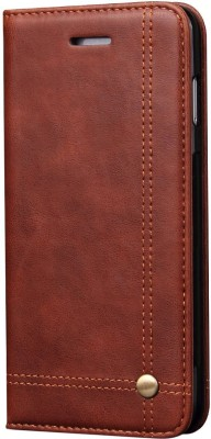 Cubix Book Cover for Samsung Galaxy S9(Brown, Holster)