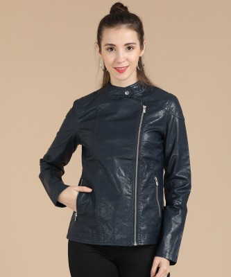 Pepe Jeans Full Sleeve Solid Women Jacket at flipkart