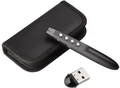 Techtest Ppt Presenter Remote With Laser Pointer For Laptop Slide Wireless Powerpoint Clicker Usb Changer Power Laser Pointer Presenter(Black)
