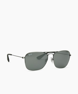 Ray-Ban Rectangular Sunglasses(Grey)