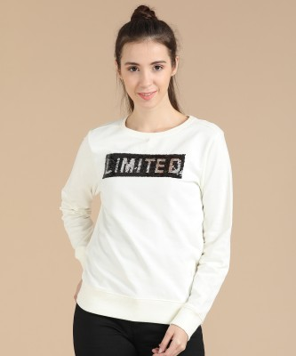 Pepe Jeans Full Sleeve Self Design Women Sweatshirt